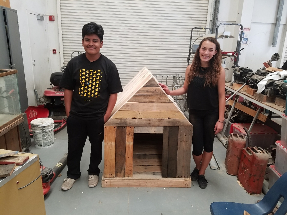 Construction class dog house!