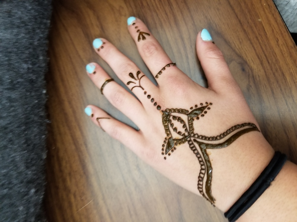 Henna Art provided for Warner Students