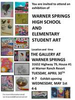 Announcement of student art exhibition