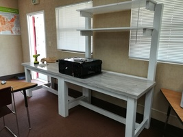 Kids built work bench!