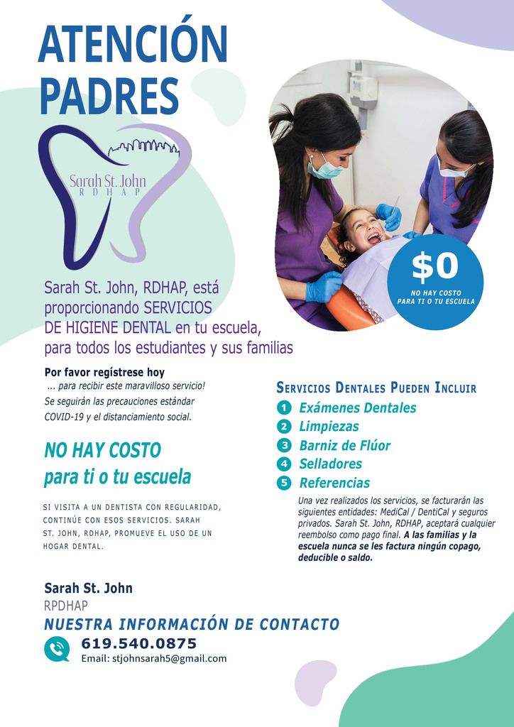 Spanish Dental flyer