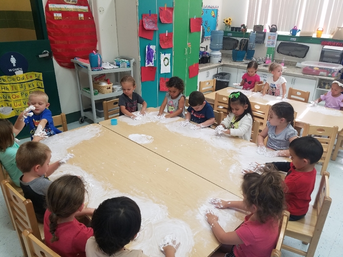 preschool shaving cream art time