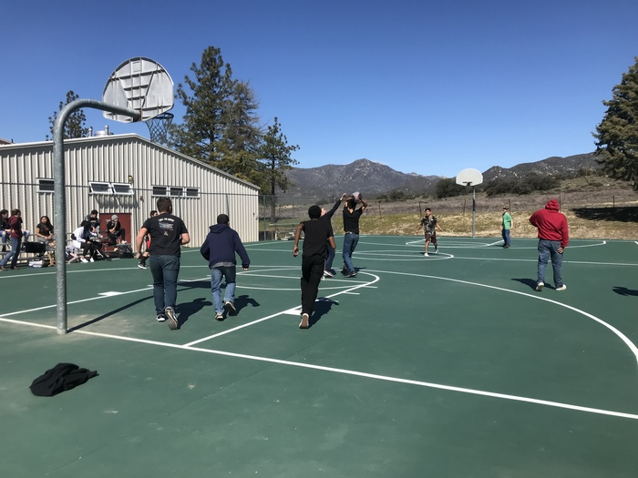 Lunchtime basketball