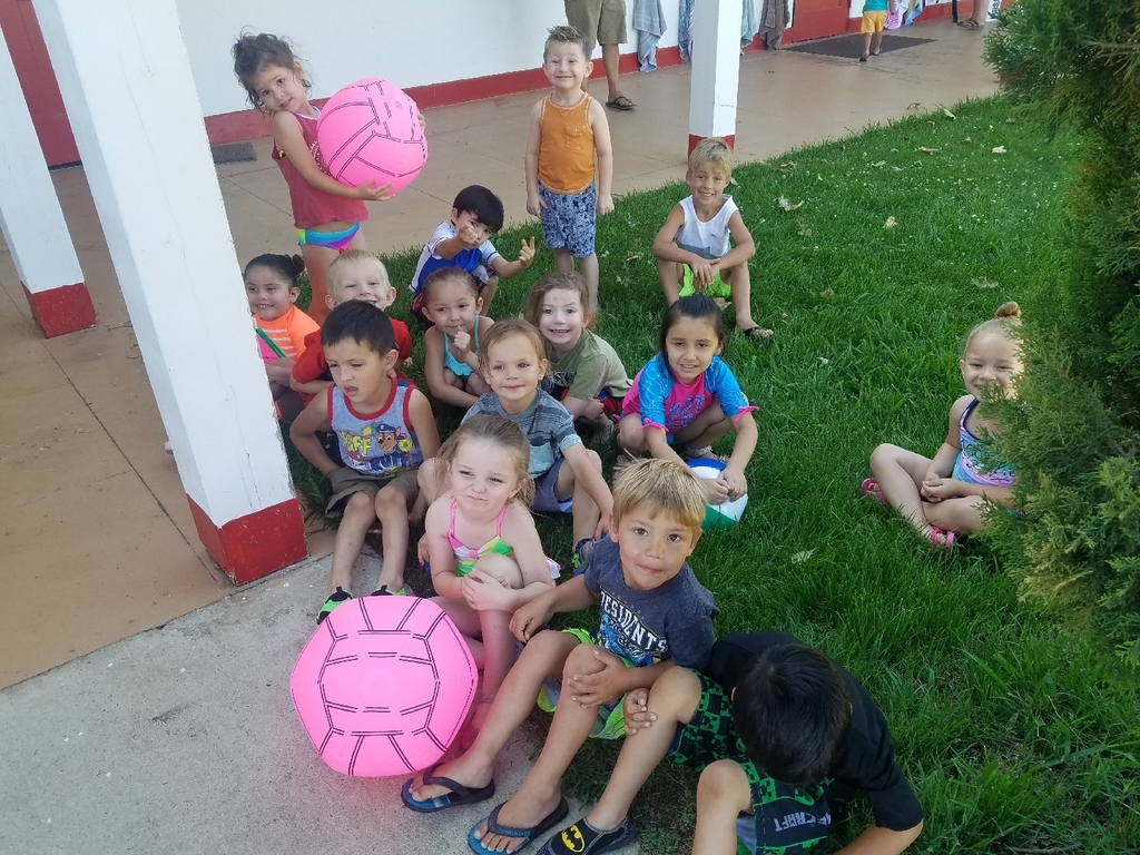 preschool getting ready for water day
