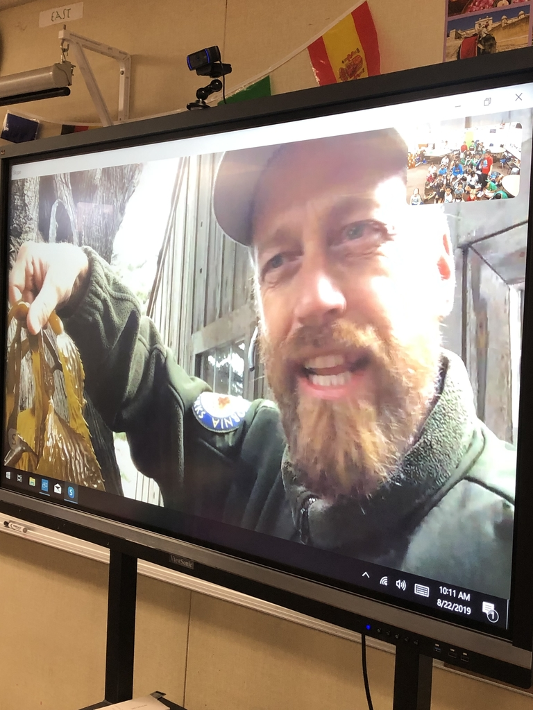 Point Lobos Skype for 2nd, 5th & 6th grade today!