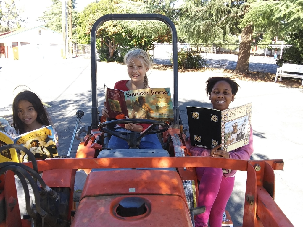 Reading on Tractors is Cool