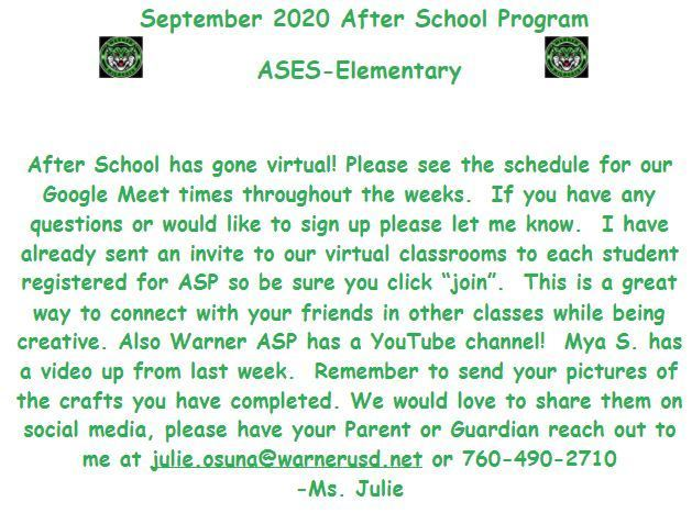Letter From ASES
