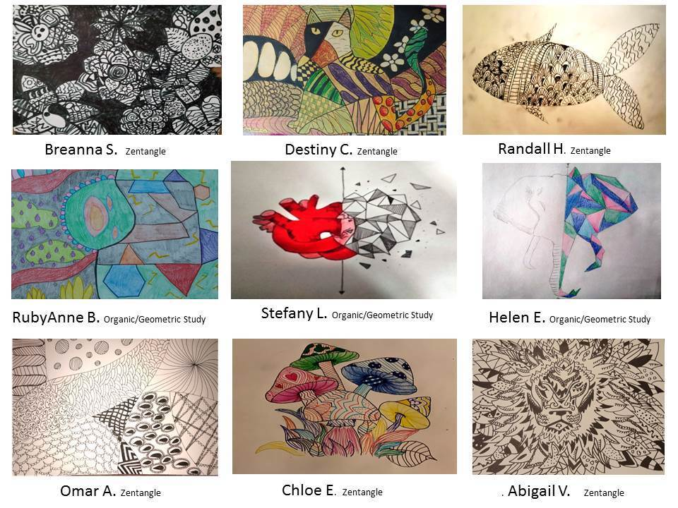 Line and shape art projects